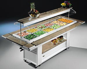 ISLAND REFRIGERATED SALAD BAR UNIT - Salad Bar Line