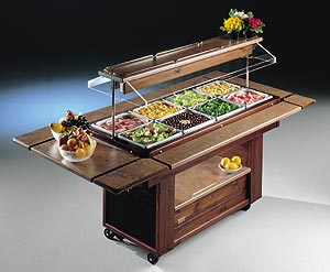 ISLAND REFRIGERATED SALAD BAR UNIT, AUTOMATIC - Salad Bar Line