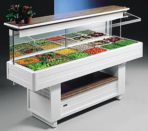 AUTOMATIC WALL REFRIGERATED SALAD BAR UNIT - Salad Bar Line