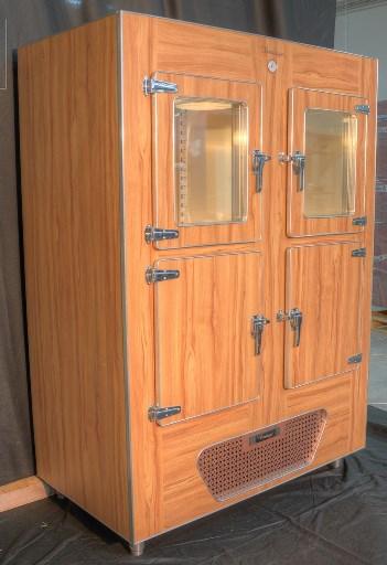 vintage retrao dry age schrank mit 2 glast re oben dry age 70 umluftk hlschrank f r vorgereiftes. Black Bedroom Furniture Sets. Home Design Ideas